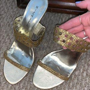 Vintage Michael Kors Gold Heels